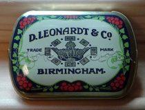 Tollhegytartó - D. Leonard & Co - fém dobozka tustoll hegyekhez