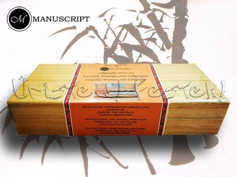Kalligráfia – Manuscript Calligraphy Artist Set Wooden Box