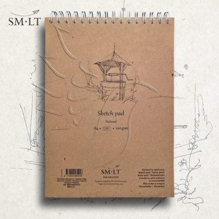 Vázlattömb - SMLT Sketch Pad - Natural 100gr