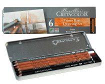 Cretacolor 6db-os grafikai ceruzakészlet  fémdobozban