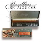 Pittceruza készlet - Cretacolor Oil Pencil Drawing Set 6pcs