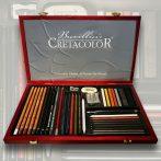 Grafikai készlet - Cretacolor Ultimo Wooden box set 35+1pcs