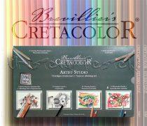 Színes grafikai válogatás - Cretacolor Artist Studio Drawing Set 72 fémdobozban