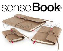 Vázlattömb - SenseBook FLAP - cserélhető betétes, velúr bőrkötésű - KÜLÖNBÖZŐ MÉRETEKBEN!
