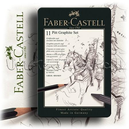 Grafikai készlet - Faber-Castell Pitt Graphite Set 11pcs