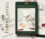 Grafikai készlet - Faber-Castell Pitt Monochrome Set 12pcs