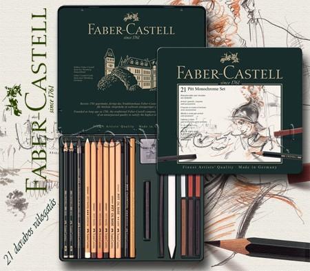 Grafikai készlet - Faber-Castell Pitt Monochrome Set 21pcs