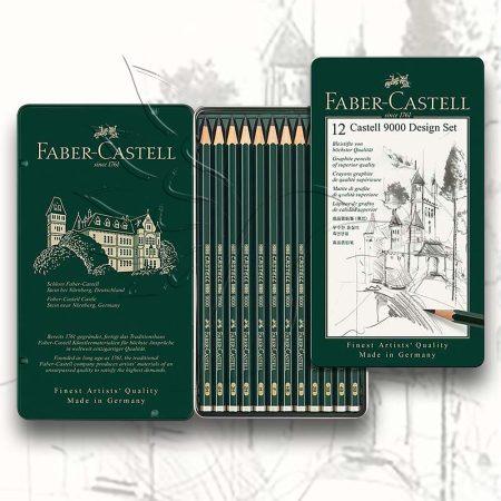 Grafitceruza készlet - Faber-Castell 9000 Art Set Tin 5H-5B 6pcs