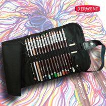 Ceruzakészlet – Derwent Coloursoft feltekerhető ceruzatartóban