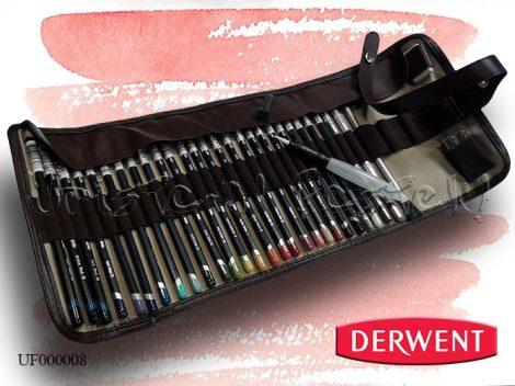 Ceruzakészlet – Derwent Watercolour EXTRA feltekerhető ceruzatartóban - 32