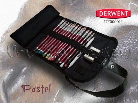 Ceruzakészlet – Derwent Pastel feltekerhető ceruzatartóban - 16