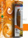 Szintetikus ecsetkészlet - Daler-Rowney Gold Taklon -  4 db