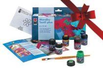 Textilfestő készlet sötét textíliára, 6 színnel - Marabu