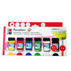 Porcelánfestő alapkészlet, 6 színnel - Marabu