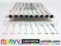 Filc - Marvy UCHIDA Drawing Pen - tűhegyű és ecsetvégű tustoll