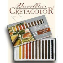 Pasztell kréta készlet - Cretacolor Brown Hard Pastels