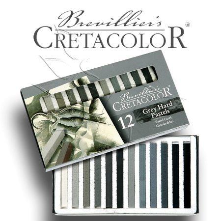 Pasztell kréta készlet - Cretacolor Grey Hard Pastels