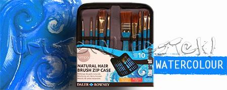 Ecsetkészlet - Daler-Rowney Simply Natural Hair Brush Zip Case 10db
