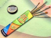 Brush Set in Metal Cylinder - Da Vinci Junior