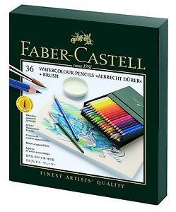 Watercolor Pencil - Faber-Castell Art Grip Kit - 38 pcs, + Brush