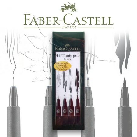 Faber-Castell Művész Kihúzó és Ecsetfilc készlet - különböző vastagságú - KÜLÖNBÖZŐ SZÍNSOROKBAN ÉS KISZERELÉSBEN!