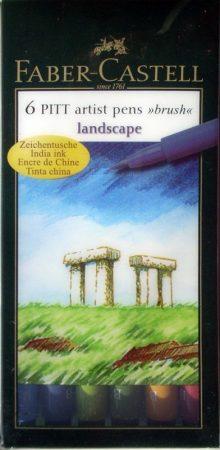 Filc készlet - Faber-Castell Művész Ecsetfilc - LANDSCAPE, 6db -167105