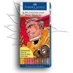 Filckészlet - Faber-Castell Manga Shonen Set - Művész Ecsetfilc készlet 6db