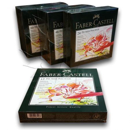 Filc készlet Faber-Castell Pitt Artist Pens Brush Set - KÜLÖNBÖZŐ KISZERELÉSEK
