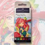 Filckészlet - Faber-Castell 6 Pitt Artist Pens Manga Shojo Set
