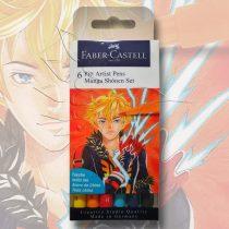 Filckészlet - Faber-Castell 6 Pitt Artist Pens Manga Shonen Set