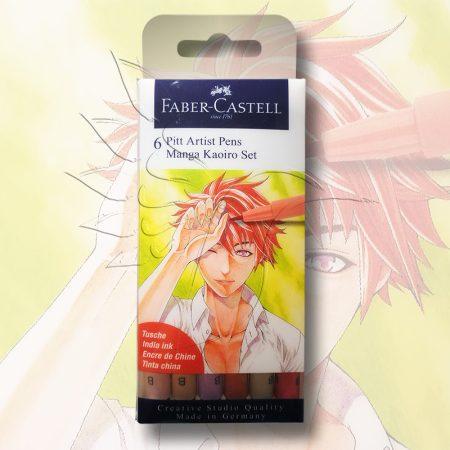 Filckészlet - Faber-Castell 6 Pitt Artist Pens Manga Kaoiro Set
