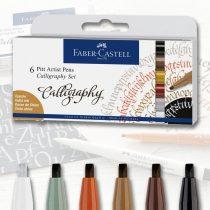 Filckészlet - Faber-Castell 6 Pitt Artist Pens Calligraphy Set