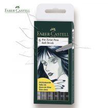 Filckészlet - Faber-Castell 6 Pitt Artist Pens Soft Brush