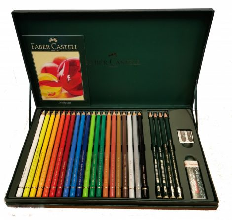 Faber-Castell 20 Polychromos Colour Pencils, 4 Castell 9000