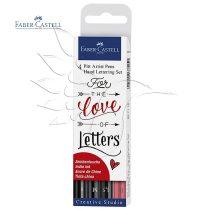 Filckészlet - Faber-Castell 4 Pitt Artist Pens Hand Lettering