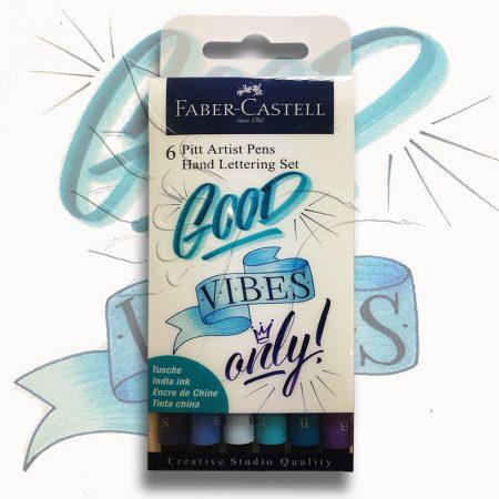 Filckészlet - Faber-Castell 6 Pitt Artist Pens Hand Lettering Set