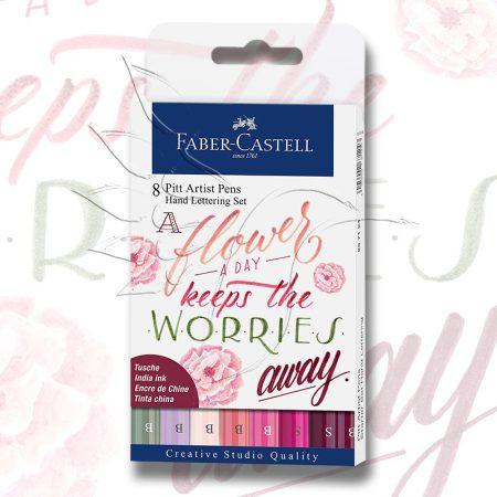 Filckészlet - Faber-Castell 8 Pitt Artist Pens Hand Lettering Set