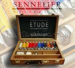 Olajfesték - Sennelier Couleurs Á l'huile Fines ETUDE Art Student Oil Colours Wooden Box 12x34ml