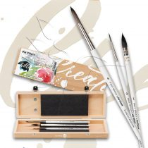 Brush Set - Nerchau - round, pointed, synthetic - oil, tempera and akrilfestékhez, 3 pcs