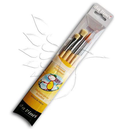 Ecsetkészlet - Da Vinci Multipurpose brushes 5pcs - szintetikus és sörte