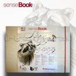 Vázlattömb - SenseBook Sketch Pad, gumis - A/4, 40 lap, 180gr