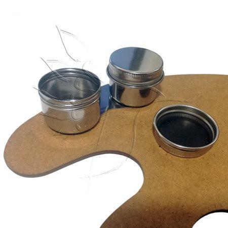 Ecsetmosó edény - Palettára rögzíthető dupla vegyszertartó