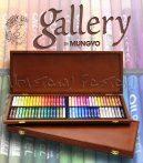 Olajpasztell készlet - Mungyo Artists' Oil Pastels 72 Wooden box