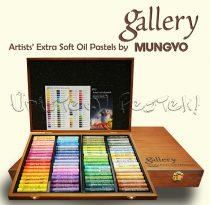 Olajpasztell készlet - Mungyo Gallery Artists' EXTRA SOFT Oil Pastels 72 Wooden box