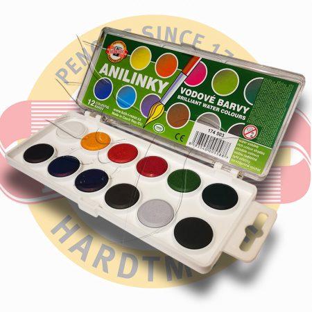 Watercolor set, aniline watercolour - Koh-i-noor Anilinky 12pc, 24pc
