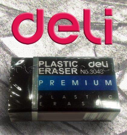 Radír - Deli Plastic Erases fekete