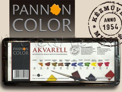 Akvarellfesték készlet - Pannoncolor Művészakvarell - fémdobozban, szilkés
