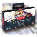 Derwent Inktense Paint Pan Travel Set Palette 12pcs