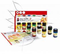 Márványozó festék készlet - Marabu Easy Marble 6x15ml