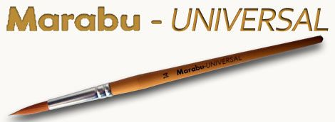 Brush - Marabu - UNIVERSAL - synthetic, round, pointed - in different sizes!